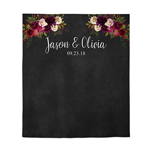 Allenjoy 50x60in Wedding Graduation Chalkboard Backdrop Blackboard Marsala Photobooth Rustic Autumn Maroon Ceremony Party Decor Decoration Reception Banner Support Custom