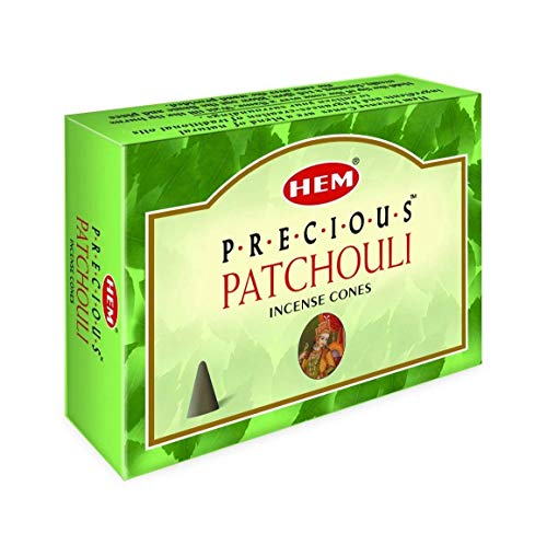 Precious Patchouli - Case of 12 Boxes, 10 Cones Each - HEM Incense From India