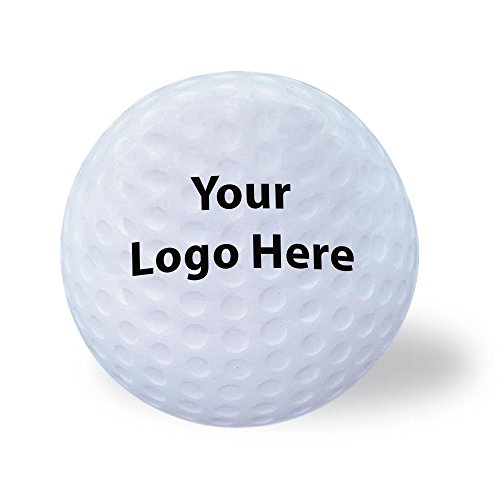 Golf Ball Stress Reliever - 150 Quantity - $1.25 Each - PROMOTIONAL PRODUCT / BULK / Branded with YOUR LOGO / CUSTOMIZED (Imprinted Stress Balls)