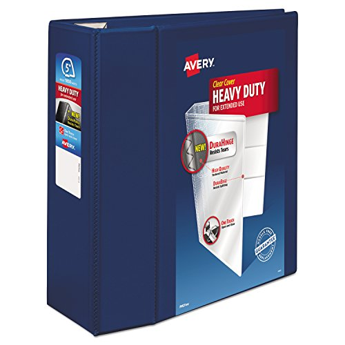 Avery Heavy-Duty Reference View Binder with 5-Inch One Touch EZD Ring, Navy Blue (79806)
