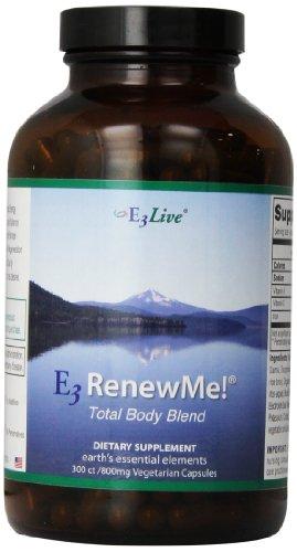 E3Live E3RenewMe! Total Body Blend -- 800 mg - 300 Vegetarian Capsules