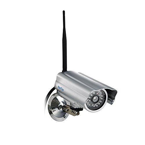 HooToo IP Camera HD 720P Surveillance Camera with IR Night Vision, Waterproof Metal Shell and Wifi P2P Plug/Play for Windows, PC, Mac Smart Phone (Silver)