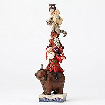 (Enesco Jim Shore HWC Stacked Santa W/ Woodland Animals Figurine)