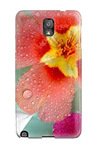 Ogmzqtz6735kELgp Anti-scratch Case Cover CharlesRaymondBaylor Protective Water Droplets On Flowers Case For Galaxy Note 3