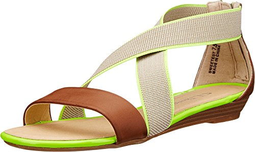 CL by Chinese Laundry Women's Sweetest Dress Sandal, Black/Natural Burnished, 6.5 M US