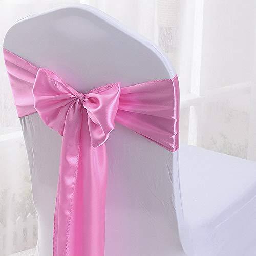(Mikash 25/50/100pc 7x108 Satin Ribbon Chair Sash Bow Cover Wedding Party Banquet Decor   Model WDDNGDCRTN - 29277   20)