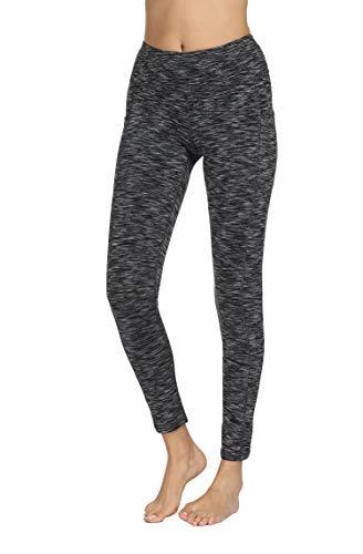 Fengbay High Waist Yoga Pants, Pocket Yoga Pants Tummy Control Workout Running 4 Way Stretch Yoga Leggings (X-Small, 9622 Black) by Fengbay (Image #4)