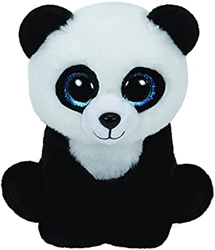 Bamboo Black Panda Ty Beanie Boos Boo Soft Plush Stuffed Teddy Cuddly Toy 6/""