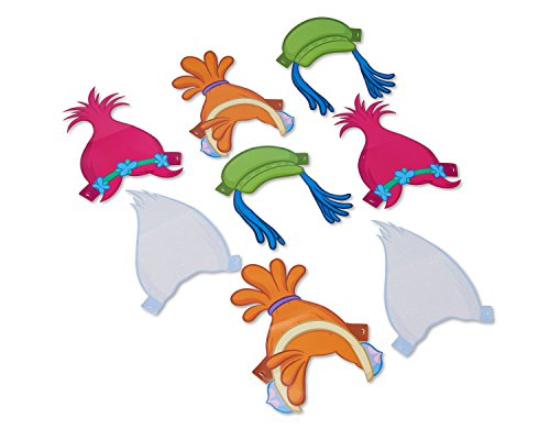 Trolls Paper Headbands 8 Piece