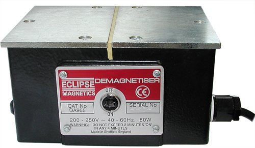Eclipse Magnetics DB956CAN Magnetic Bench Demagnetizer, 110 volts, 5.875'' Length, 3.4375'' Height, 4.625'' Width
