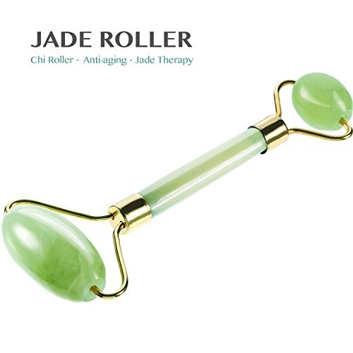 NeutroBeauty Jade Roller for Face, Premium Quality, 100% Real Natural Jade Stone, Anti-Aging Beauty Skincare Tool to Rejuvenate Facial Skin Cooling, Slimming & Firming And Reduce Wrinkles Massager (I) (Real Skin Natural)