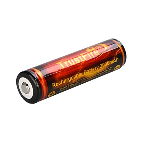 QUICATCH Lot 3000mAh 18650 Battery 3.7V Li-ion High Drain Rechargeable Batteries for LED(Red)