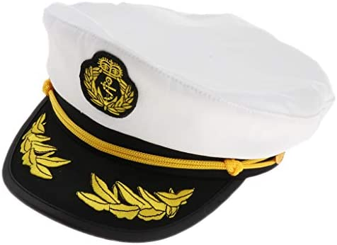 海軍帽子 ヨット ボート 船長 セーラー 帽子 海兵隊大将 帽 仮装 コスプレ小物 小道具 02