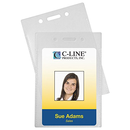 C-Line Proximity Badge Holders, PVC-Free Poly, Vertical, 2-3/8 x 3-1/2 Inches, 50-Pack (89923)