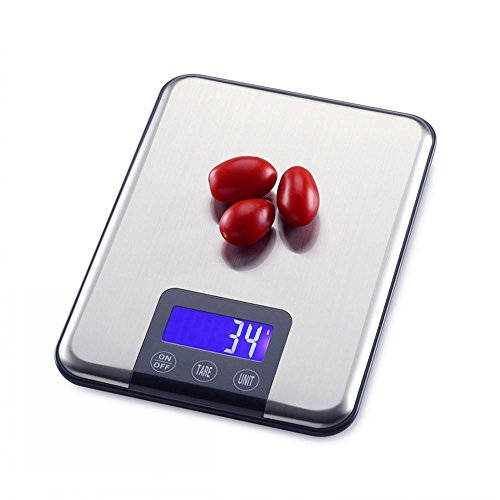 Jack Mall- Household kitchen mini electronic scales precision 5kg bakery food weighing scales 10kg small ( Capacity : 15kg+tray )