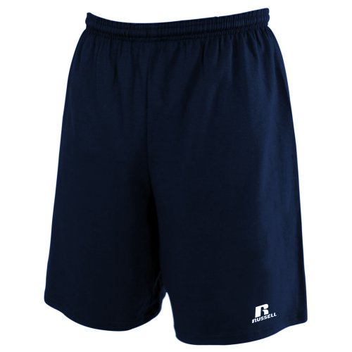 (Russell Athletic Men's Big & Tall Cotton Jersey Pull-On Short, Navy, 4X)