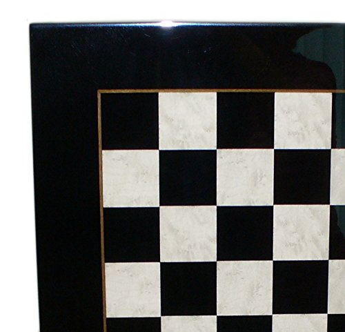 Ital Fama Wood Chess Board, Black and White Veneer by Italfama