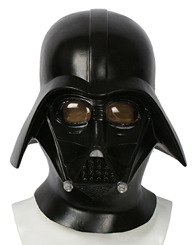 Darth Vader Helmet Deluxe Latex Cosplay Updated Full Head Black Adult Props Mask (Deluxe Helmet Vader Darth)