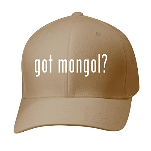 BH Cool Designs Got Mongol? - Baseball Hat Cap Adult, Khaki, Large/X-Large