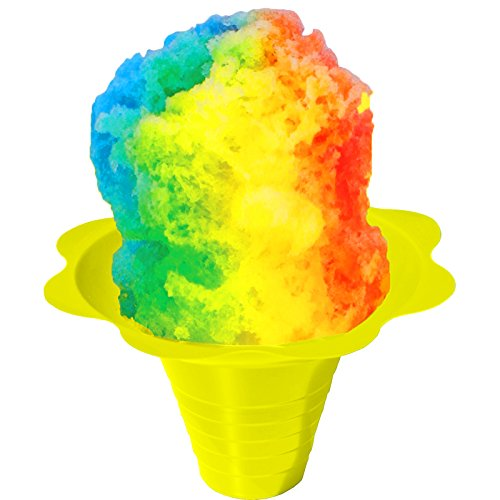 Shaved Ice or Snow Cone Flower Cups 8 ounce (medium), Case of 1000, 4 Colors by Hypothermias (Image #2)