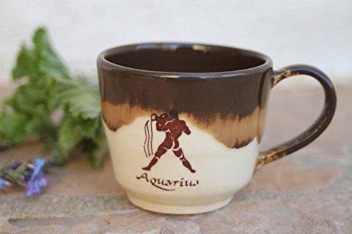 Aquarius Espresso Cup, handmade ceramic (Ceramic Zodiac)