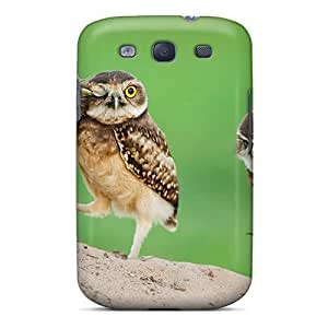 Hot Snap-on Birds Animals Owls Hard Cover Case/ Protective Case For Galaxy S3