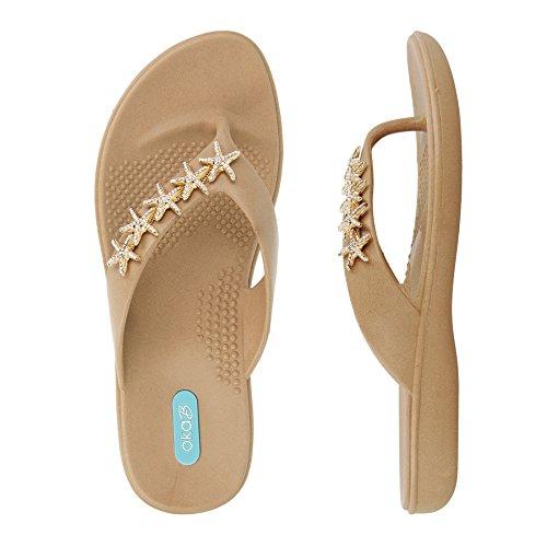 Gillian Flip Flop Sandal Shoes by OkaB Color Chai (M) by OkaB Oka-B (Image #1)