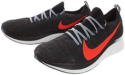 Nike Zoom Fly Flyknit Men s Running Shoe Black Bright Crimson-Obsidian Mist 9.0