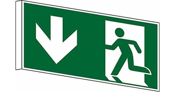 Bandera Cartel salida de emergencia DIN EN ISO 7010 - 300 x ...