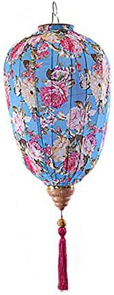 Traditional Chinese Cloth Lantern Painted Home Garden Hanging Decorative Lampshade 14