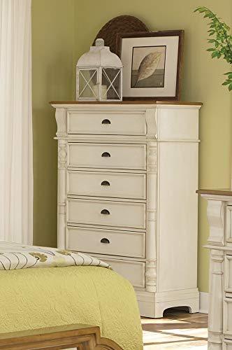 Oleta 6-Drawer Chest with Pilaster Detail Buttermilk and Brown Cottage 6 Drawer Dresser