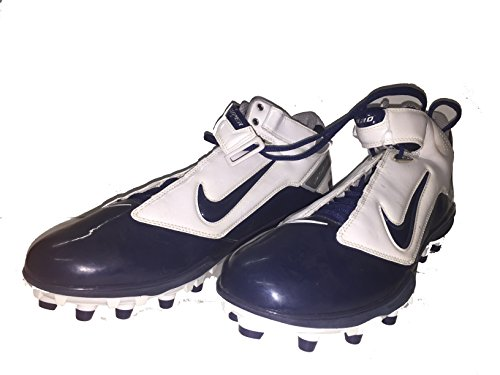 Dallas Cowboys #44 Tyler Clutts NIKE Air LT Super Bad Sz 14 mens shoes cleats Custom Blue/White DeMarcus Ware Collection (The Cowboy House COA)