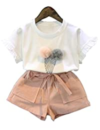 Toddler Kids Baby Girls Clothes Clothing T-shirt Tops Pants Shorts Set Outfits