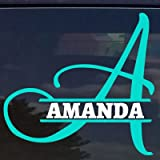 auto decal letters - Custom Split Monogram Name Letter Initials Sticker Decal for Yeti Cups, Laptops, Tumblers, Car Window (3