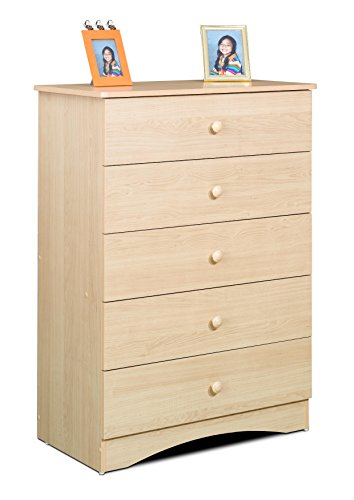 Solid Maple Futon (Alegria 5605 5-Drawer Chest from Nexera, Natural Maple)