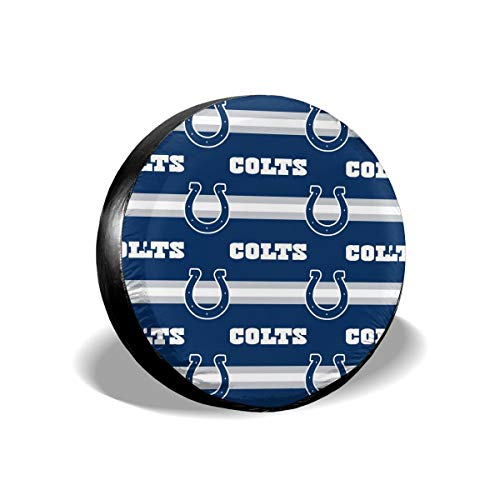 (Sorcerer Custom Colorful Waterproof Tire Cover Indianapolis Colts American Football Team Unisex Protection Spare Covers Storage Wheel Cover for Car Off Road)