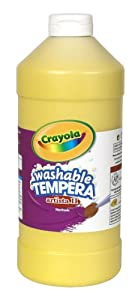 Crayola Washable Tempera Paint, Yellow Paint Craft Supplies, 32 Ounce