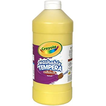 Crayola Tempera Washable Paint 32-Ounce Plastic Squeeze Bottle, Yellow