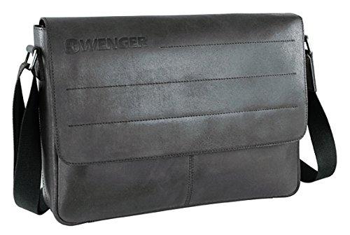 Wenger Street Hunter Messenger Maletín Bolso bandolera piel 39 cm compartimento Laptop marrón
