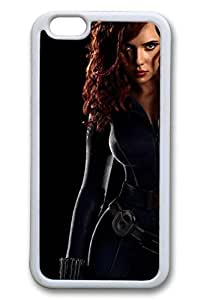 iPhone 6 Case, 6 Case - Ultimate Protection Scratch Proof Soft Interior Case for iPhone 6 Black Widow The Avengers Protective White Rubber Case Bumper for iPhone 6 4.7 Inches