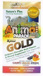 Nature's Plus Animal Parade Gold-Children's Multi-Vitamin 120 count