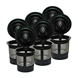 iPartsPlusMore Reusable K Keurig 2.0 and 1.0 Brewers - Universal Fit Refillable Single Cup Coffee Stainless Steel Mesh Filter - (4 pack, 6 pack)
