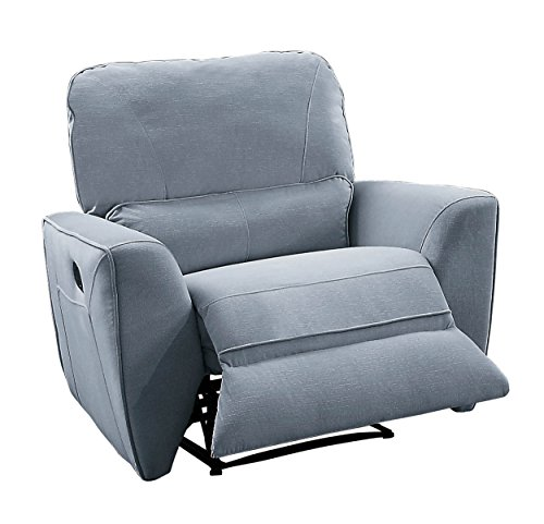Homelegance Dowling Fabric Upholstered Reclining Chair, Gray
