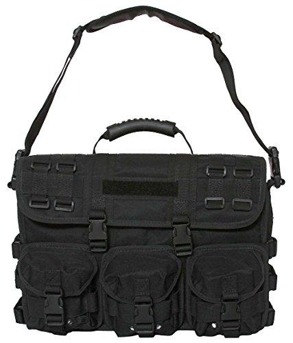 Computer Field Bag - Black Tactical Field Briefcase MOLLE Advanced Response Laptop Attache US Marshals Carry Shoulder Bag