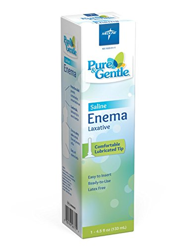 Medline CUR095005B Pure and Gentle Disposable Saline Enema, 4.5 oz Bottles, Bulk (Pack of - Laxative Saline Enema