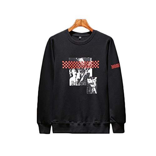 Shopping A Lunghe Uomo Con E Autunno Black Inverno Pullover Go Maniche Rotondo Per Easy Scollo CwqTZUa1