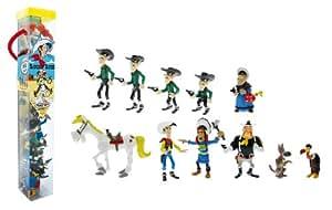 Plastoy 70371 - Tubo con 11 figuras de Lucky Luke