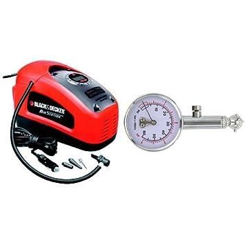 Black and Decker ASI300-QS - compresor 11 bar / 160 psi y Carrera X rx0014 Medidor de presión de los neumáticos: Amazon.es: Coche y moto