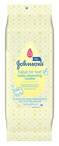Johnsons Baby Head-To-Toe Cleansing Cloths (3 Pack) by Johnson & Johnson