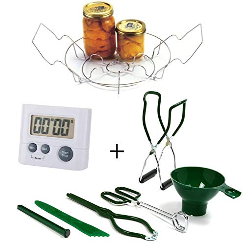 Norpro Canning Essentials Kit - Home Supplies Tool Set - Large Canning Rack + Great Digital Kitchen Timer by HG by Norpro (Image #7)